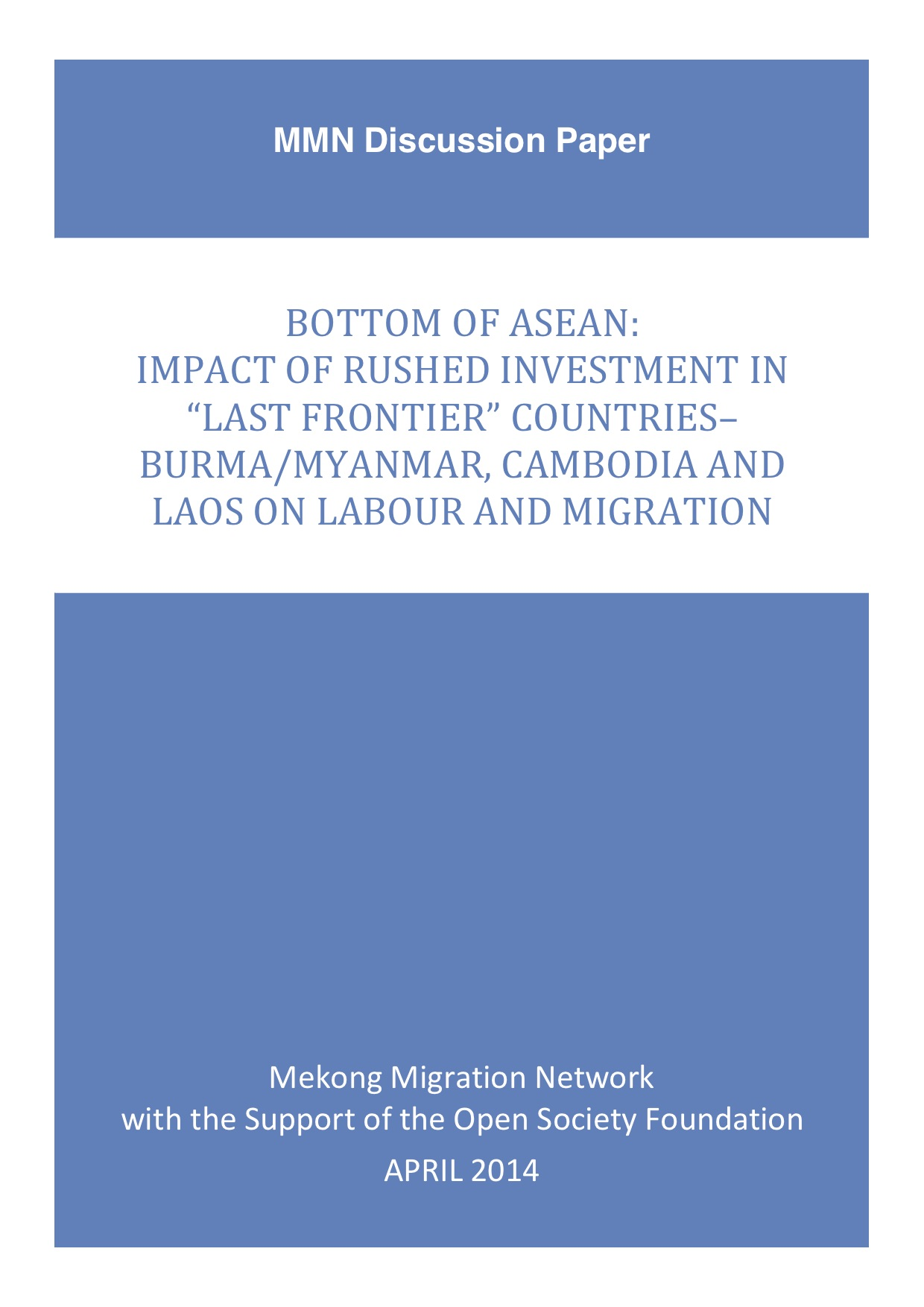 Bottom of ASEAN – Discussion paper-final