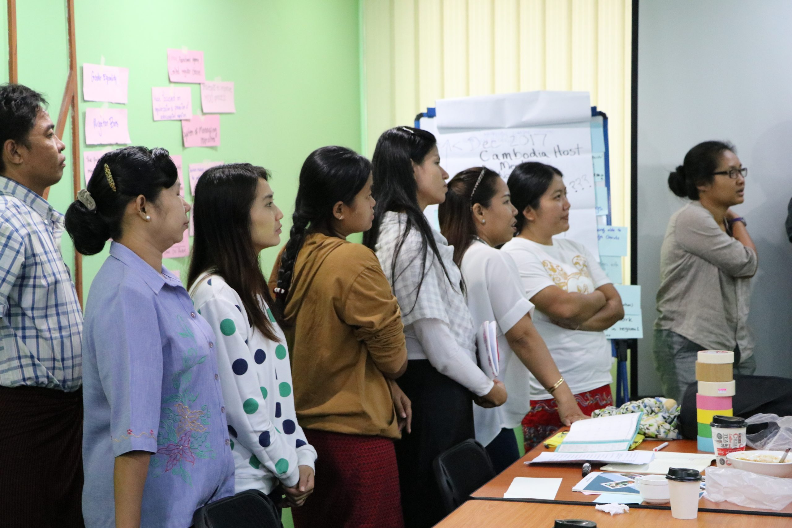 CSO reflection meeting following the first policy dialogue, July 2017, Yangon, Myanmar