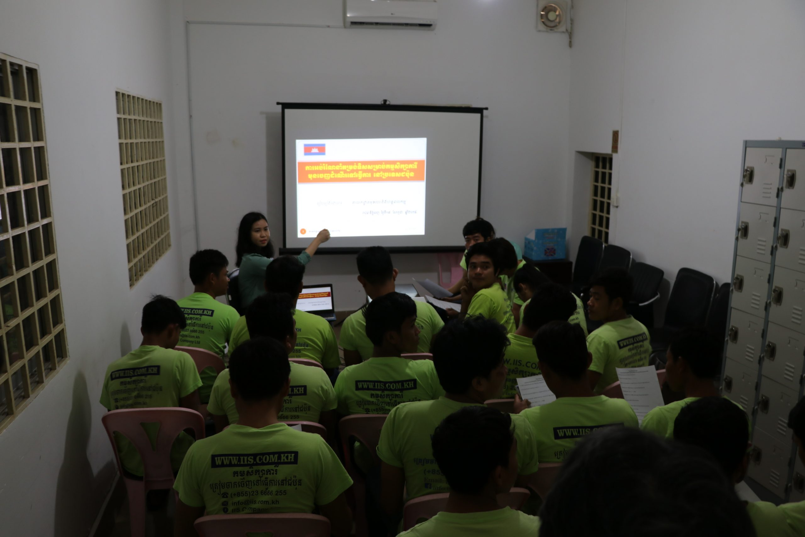 Visit of pre-departure training for prospective Cambodian migrants bound for Japan, February 2019, Phnom Penh, Cambodia