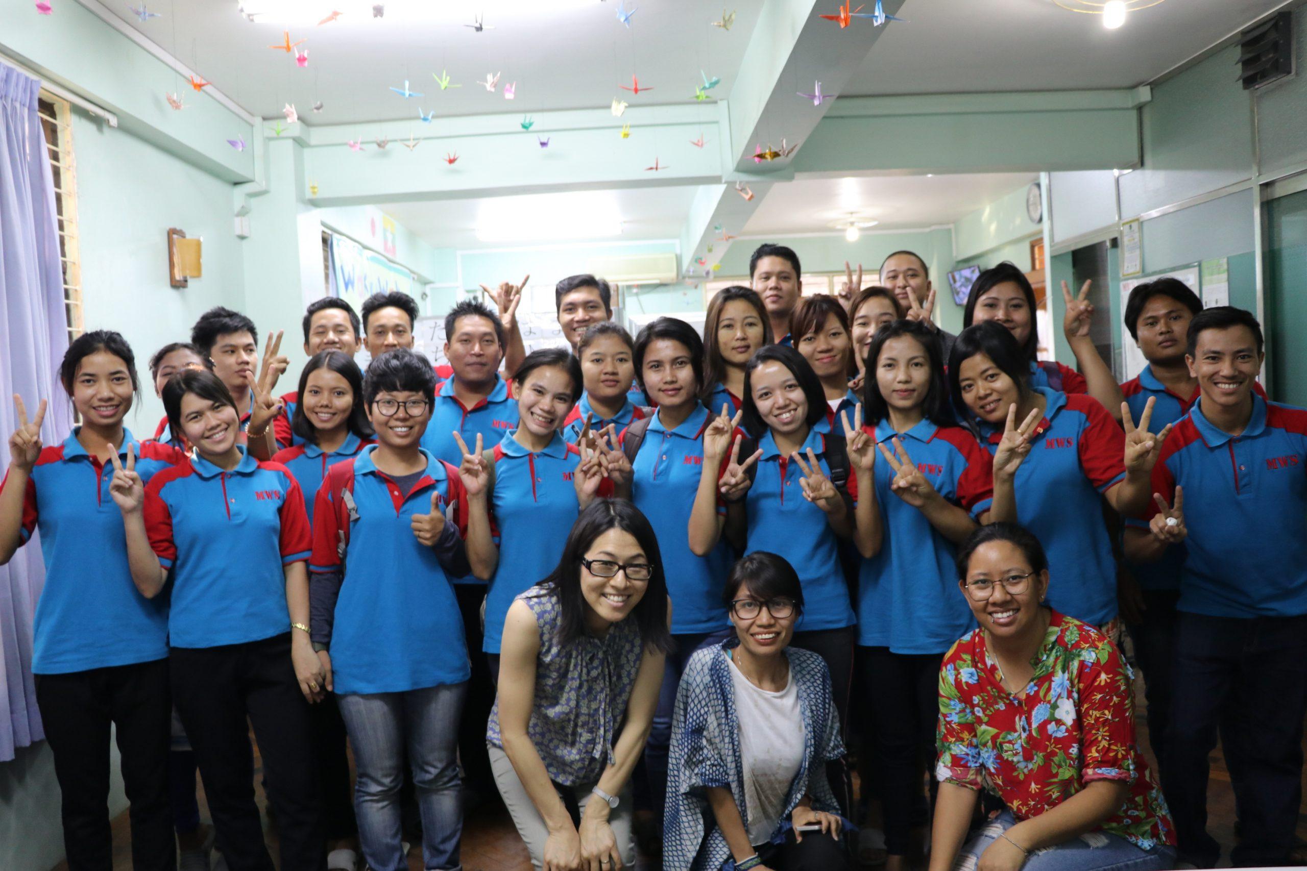 Visit of pre-departure training for prospective Myanmar migrants bound for Japan, April 2019, Yangon, Myanmar
